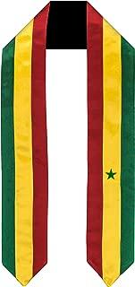 Senegal Flag Graduation Sash/Stole International Study Abroad Adult Unisex