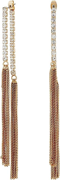 GUESS - Twist Hoop with Pave Accent Earrings