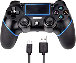PS4 Controller SADES C200 Dual Shock 4 Wireless Controller for Playstation 4 Joystick with Sixaxis, Bluetooth, Micro USB, Multi-Touch Clickable Touch Pad(Black)