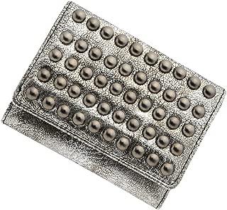 極小財布 スタッズ BECKER(ベッカー)日本製 (アンティークシルバー) ミニ財布/三つ折り財布