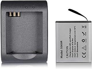 MUSON(ムソン)アクションカメラバッテリーキット アクションカメラ 1200mAh充電式 バッテリー USB充電器 MUSON/APEMAN/Crosstour/Victure/Campark/AKASOアクションカメラなどに適用 バッテリ...