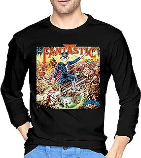 Mens Cool Elton John Long Sleeve Tshirts Black