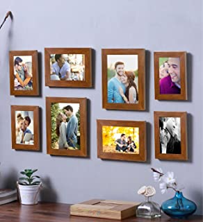 Art Street - Octopus Set of 8 Brown Wall Photo Frame (Mix Size) 2 Units Each of 4x6, 5x7, 6x8