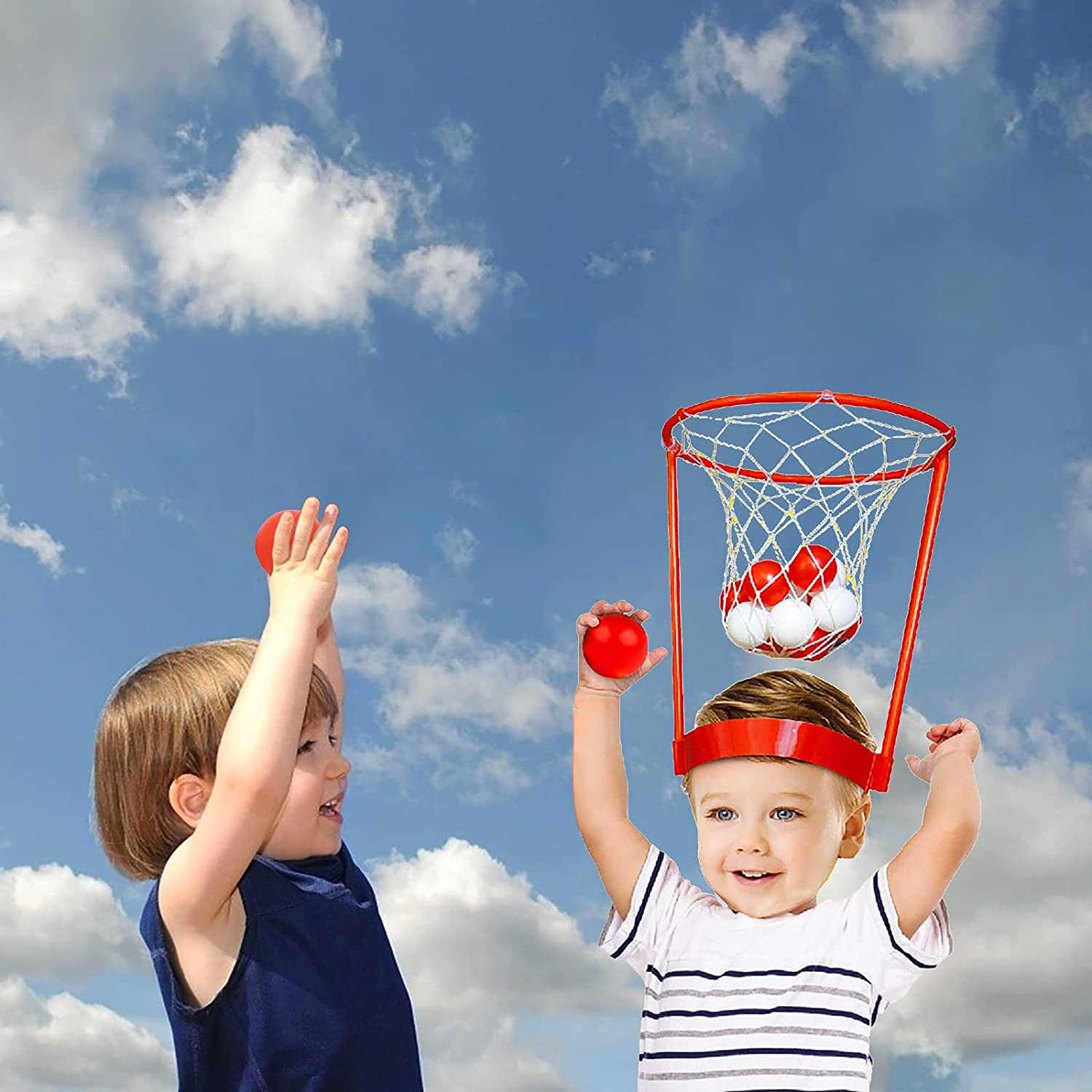 GOODTRADE8 Head Hoop Basketball Party Game for Kids and Adults,M
