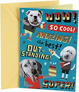 Hallmark Birthday Card for Kids with Stickers (Dog Party)