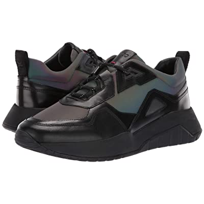 BOSS Hugo Boss Atom Run Metallic Sneaker By HUGO (Black) Men