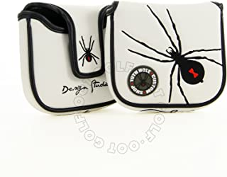 19th Hole Custom Shop Spider High-MOI Mallet Putter Headcover, Heel Shaft, White