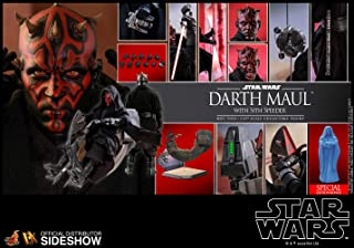 Hot Toys Star Wars Darth Maul with Sith Speeder Exclusive Special Edition Sixth 1/6 Scale Movie Masterpiece Collectible Figure [with Hologram Bonus Part]