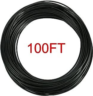 YaeGoo Stainless Steel 304 Black Wire Rope Vinyl Coated,7x7 Strand Core,1/16