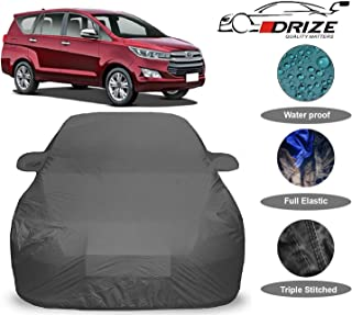 DRIZE™ Innova Crysta Car Cover with Triple Stitched Fully Elastic Ultra Surface Body Protection (Grey Look)