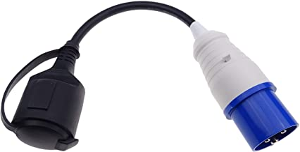 CEE-adapter, CEE-stekker op Schuko-koppeling 230 V 16 A voor camping & camper
