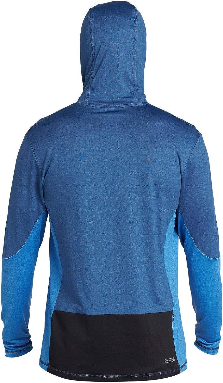 Quiksilver Mens Angler Hooded Ls Long Sleeve Rashguard Surf Shirt Rash Guard Shirt