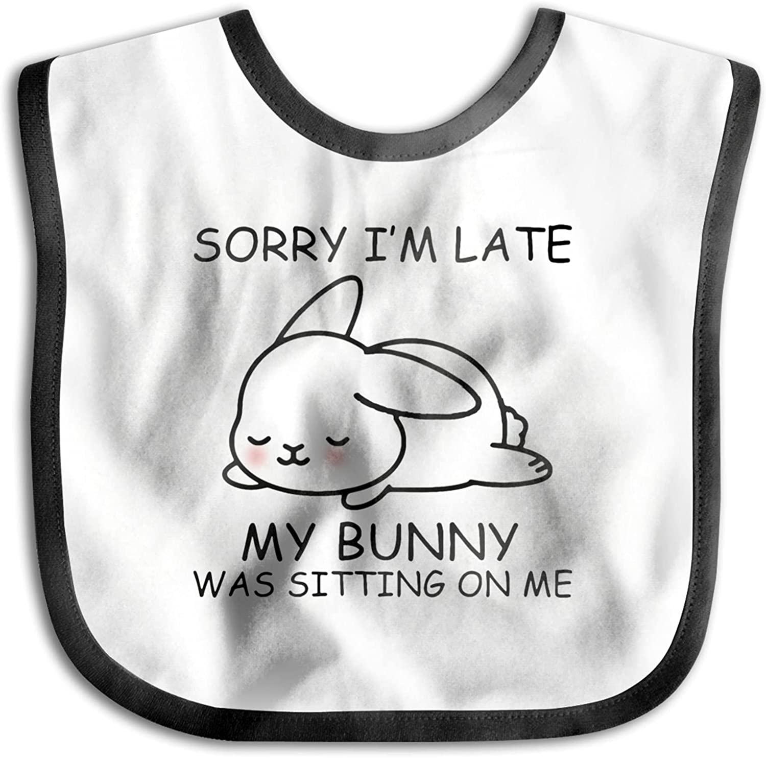 wobzfrok Sorry I Am Late My Bunny Baby Sitting 70% OFF Outlet Special price for a limited time Bib was Me On