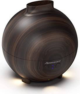 Aromacare Large Essential Oil Diffuser for Aromatherapy 600ml, Aroma Cool Mist Humidifier Globe- Ultra Quiet- Dark Wood Gr...