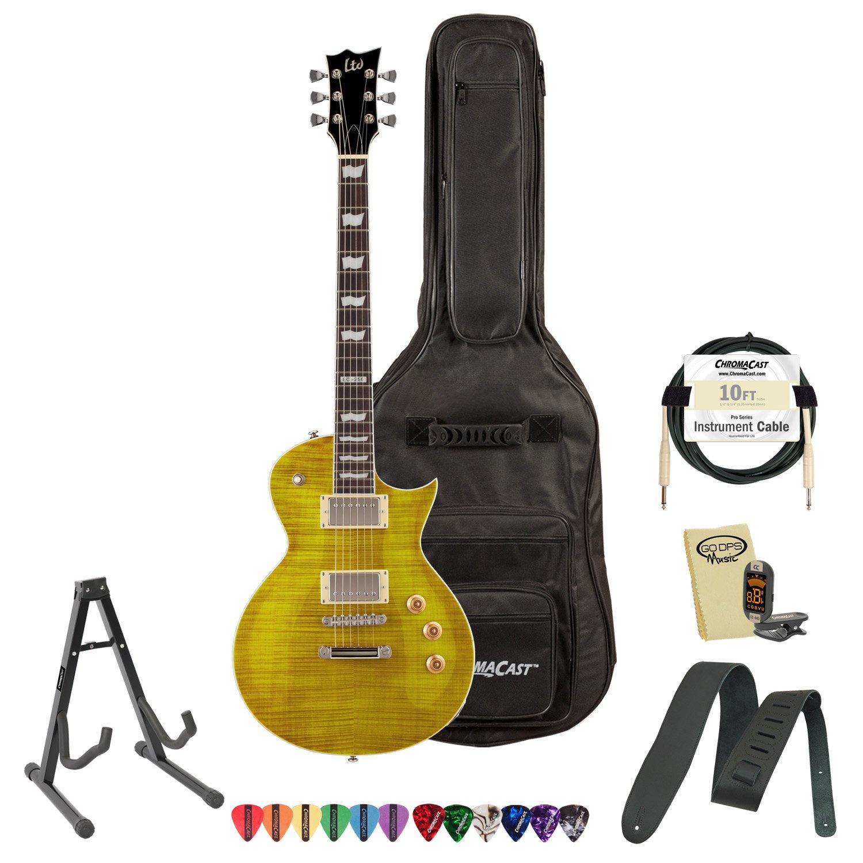 Cheap ESP JB-EC-256FM-LD-KIT-1 Flamed Maple Lemon Drop Electric Guitar Pack Black Friday & Cyber Monday 2019