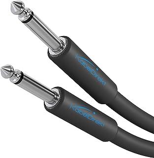 KabelDirekt - 6,3mm mono instrumentkabel/gitaarkabel - 5m - (audio kabel geschikt voor het aansluiten van een elektrisch...