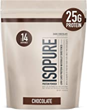 Isopure Naturally Flavored, Keto Friendly Protein Powder, 100% Whey Protein Isolate, Flavor: Natural Dark Chocolate, 1 Pound