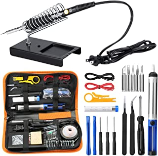 URCERI Soldering Iron Kit Electronics 26-in-1, 60W Adjustable Temperature Welding Tool