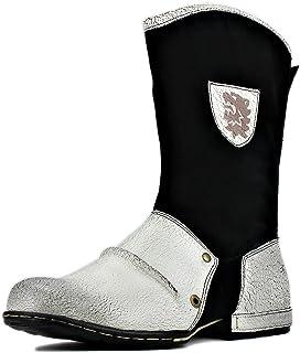 osstone Bottes de Cowboy Moto pour Hommes Biker Mode Zipper Bottes Chukka en Cuir Chaussures décontractées OS-5008-1-H10-K-R