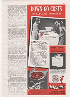 Hotpoint Electric Ranges Down Go Costs Appliance 1938 Home Antique Advertisement