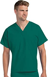 Landau Premium Uniform Reversible One Pocket V-Neck Scrub Top, Hunter, Small