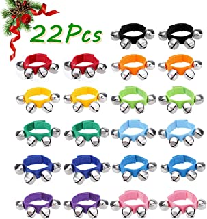 Wrist Band Jingle Bells, Musical Bells for Kids, NASUM 22 Pcs,11 Colors, Musical Rhythm Toys, Best gift for School, Christmas, Holiday Party, Dance