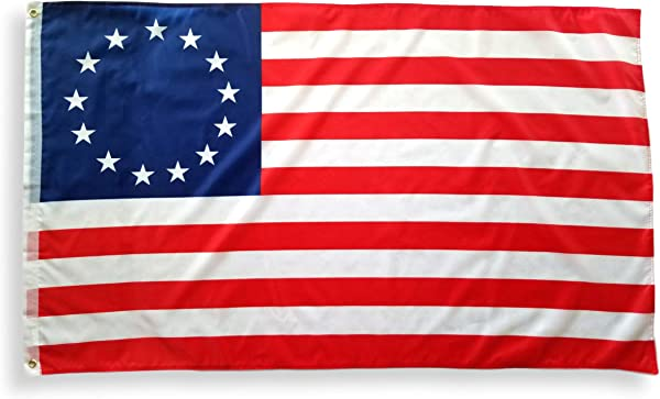 3x5 Betsy Ross Flag With Two Brass Grommets Double Stitched Edges And 100 Polyester Fabric 13 Star Flag 3x5 Revolutionary War 3x5 American Flag Old American Flag US History Colonial Flag