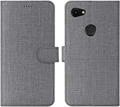 Feitenn Google Pixel 3A XL Case, Pixel 3A XL Wallet Case Cover, Flip Folio Stand Card Slots Magnetic Bumper Slim Shockproof Anti-Scratch Protective PU Leather Shell for Google Pixel 3A XL 2019 - Gray