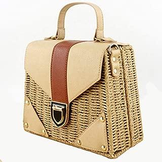 Bohemian Straw Bags For Women Beach Handbags Summer Vintage Rattan Bag Handmade Knitted Crossbody Bag