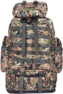 Atrumly Mochilas de escalada Militar de 100 litros de mochila de senderismo de camuflaje mochila de bolsillo de mochila de deportes de camping mochila de viaje