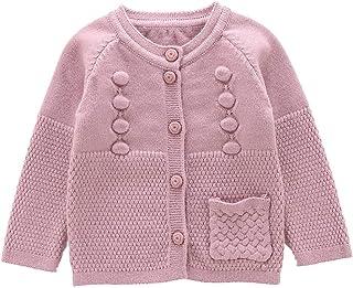 Moonnut Little Girls' Long Sleeve Knit Cardigan Sweater (Baby/Toddler)