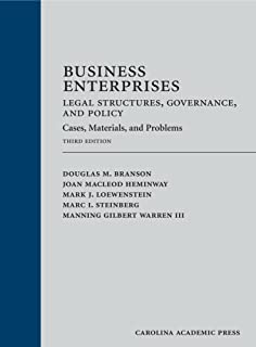 Business Enterprises--Legal Structures, Governance, and Policy: Cases, Materials, and Problems