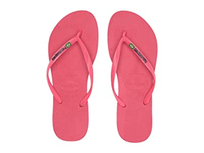 Havaianas Slim Brazil Flip-Flops (Flamingo) Women