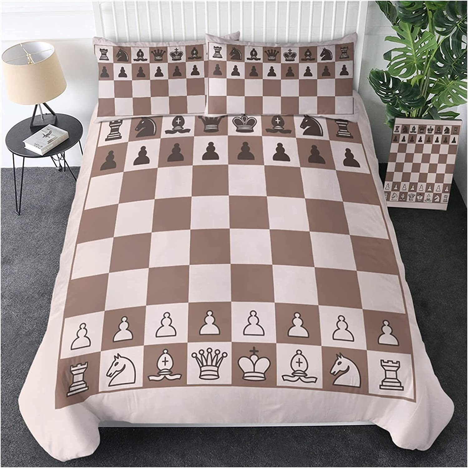 Max 75% OFF Award-winning store BESTTEXE Black and White Duvet Cover Chess S Games Board Bedding
