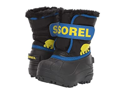SOREL Kids Snow Commander (Toddler) (Black/Super Blue 1) Boys Shoes