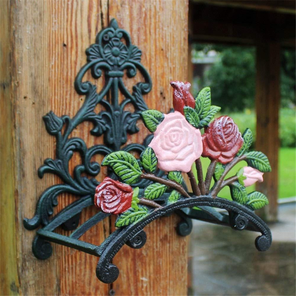 Soporte de manguera montado en la pared Antiguo flor del Peony de pared soporte de la