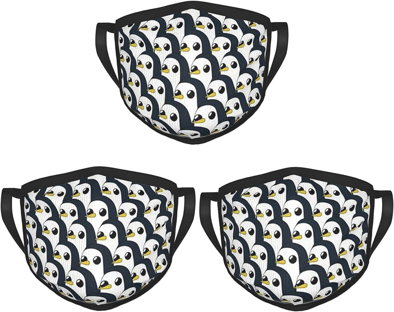 Balaclava Earmuffs Cute Penguin Faces Face Mouth Cover Mask Reusable Windproof Scarf Towel Cover Headwrap