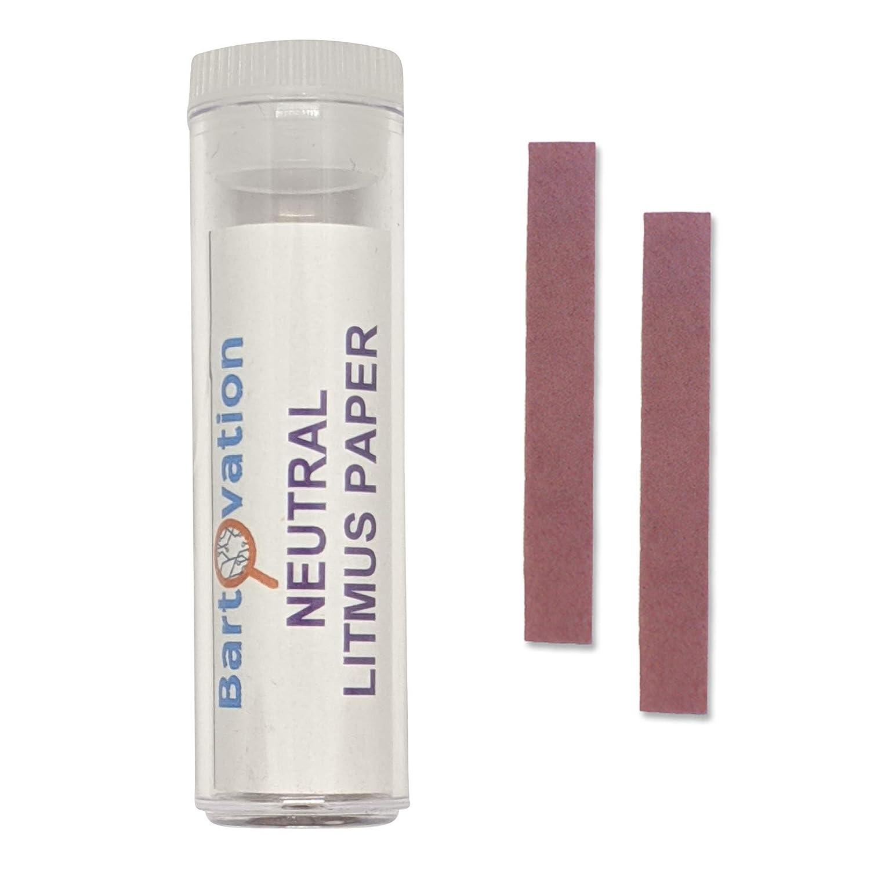 Neutral Litmus Paper [Vial of 100 Test Strips] for Acidity/Alkal