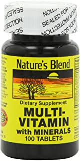 Nature's Blend NAT B MULTIVITAMIN & MIN TB 100, Assorted, 100 Count (Pack of 1)