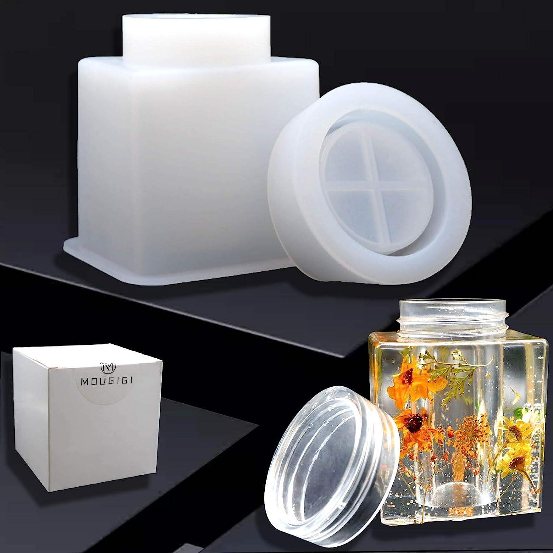 Jewelry Box Molds for Resin MOUGIGI Box Resin Mold Bottle Resin Mold Storage Box Bottle Silicone Resin Molds for DIY Jewelry Container Resin Decoration