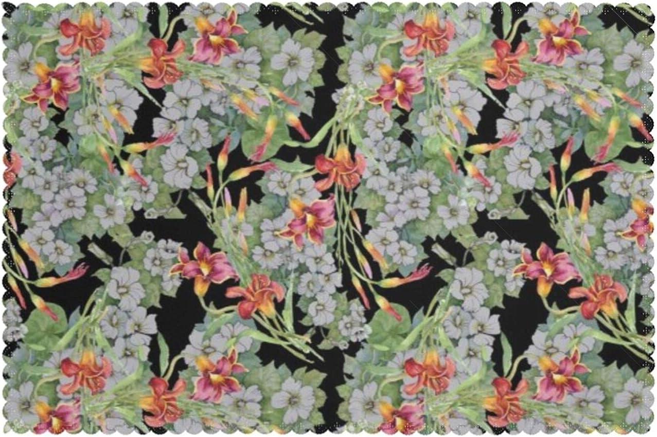 KAZOGU Juego de 6 manteles individuales aislantes de calor para el verano, jardín, flores florecientes recicladas