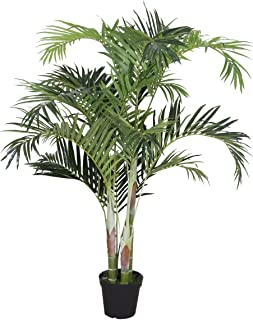 AMERIQUE Gorgeous Tech, w Gorgeous & Unique 6 Feet Phoenix Palm Artificial Plant Tree with Nursery Plastic Pot, Real Touch Technology, with UV Protection, Super Quality, 6', Green