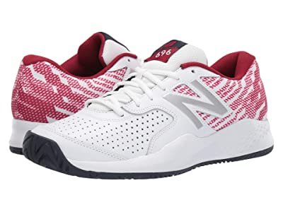 New Balance 696v3 (White/Scarlet) Men