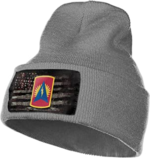 FORDSAN CP Army 164th Air Defense Artillery Brigade Mens Beanie Cap Skull Cap Winter Warm Knitting Hats.