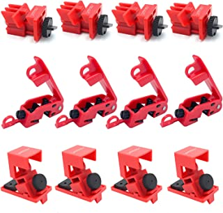 SOSAMV Circuit Breaker Lockout Device - 12 Pack - Lockout Tagout Electrical Breaker - 120/277V Clamp on and Universal Mult...