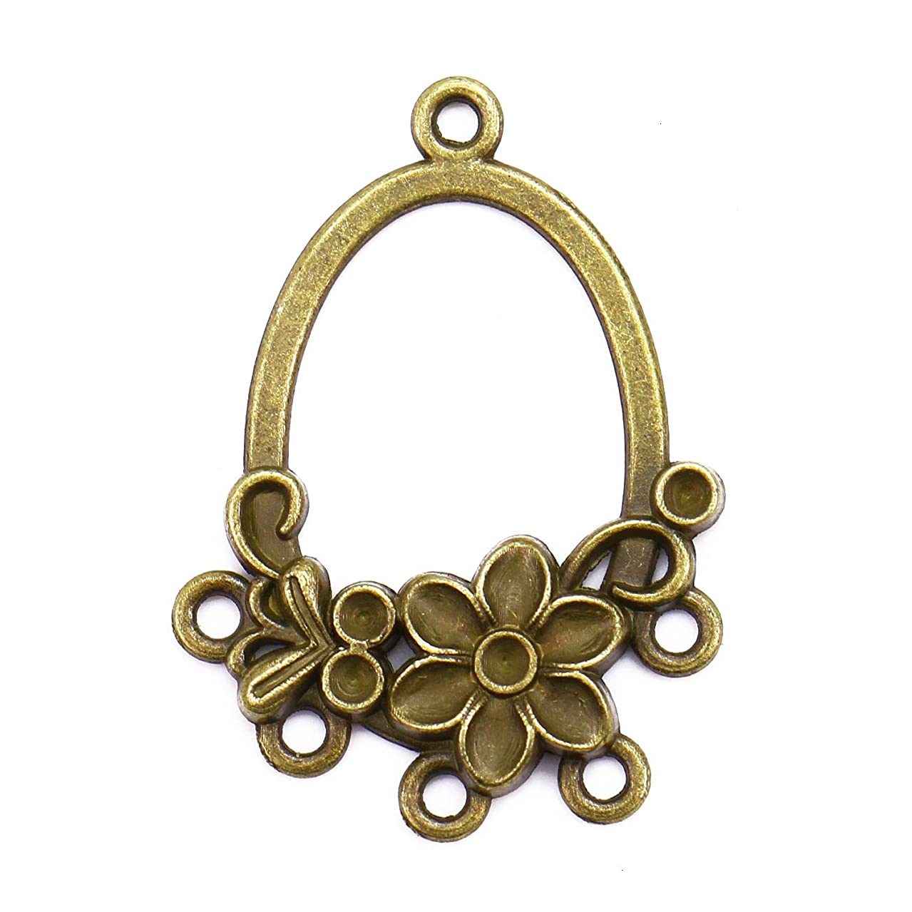 Monrocco 40 Pcs Antique Bronze Earring Chandelier Connectors Findings for Earring Drop and Charm Pendant Jewelry Findings