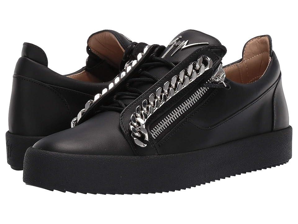 e2fe4cbbc06eda Giuseppe Zanotti Frankie Chain Low Top Sneaker (Birel/Vague Nero) Men's  Shoes
