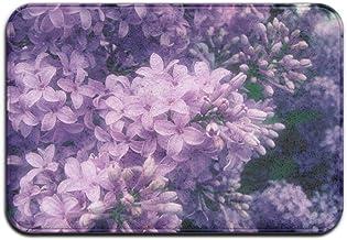 Purple Floral Lilac Doormat Anti-slip House Garden Gate Carpet Door Mat Floor Pads
