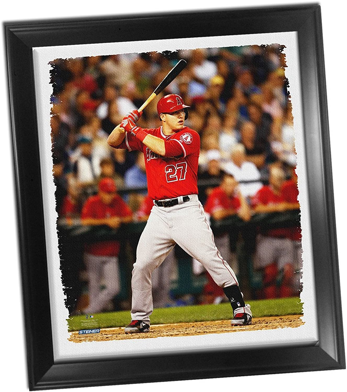 Los Angeles Angels Mike Trout Framed Stretched 32X40 Canvas