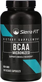 Sierra Fit Micronized BCAA, Branched Chain Amino Acids, 1,000 mg Per Serving, 240 Veggie Capsules